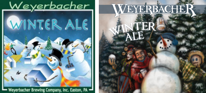 Left: The Old Winter Ale Label  Right: The Revamped Label