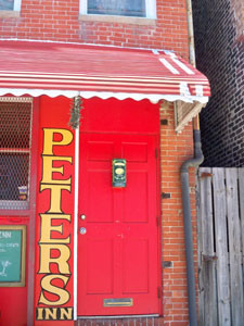 The door of Peter's Inn from baltimore.cbslocal.com