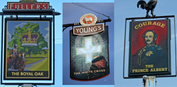 Tied House (L to R) : Fuller's, Young's, Courage