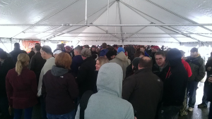 The crowd under the beer tent.