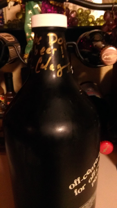 My signed growler.