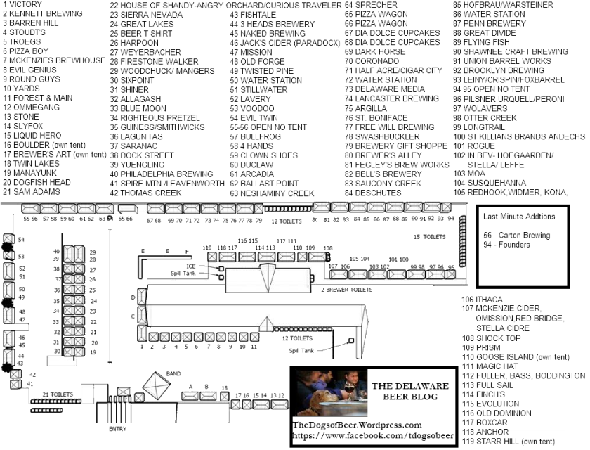 Festival Map for the 2013 Kennett Brewfest