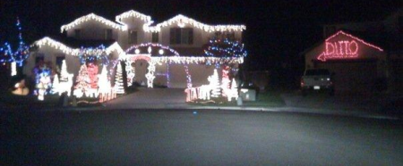 "If you live next to one of those Christmas ""super houses"" don't even try.  Don't even turn the lights on in your house."