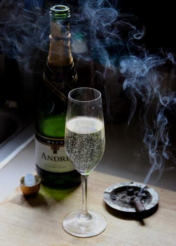Champagne on Sunday.