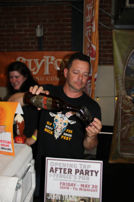 We were lucky enough to be standing in front of Sly Fox when they were announced them as winners of The Inquirer's New Beer catagory with their Nihilist Russian Imperial Stout. Pour some!