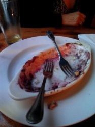 As usual, we made the mistake of tasting our dessert before I took a picture of it. At Naumkeag Ordinary