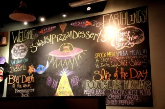 The Flying Saucer Pizza Company Chalk Board