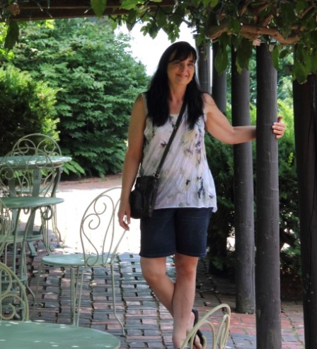 Tracey in the Gables Garden