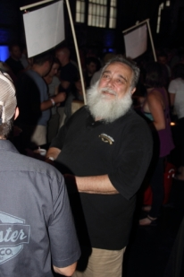 HA! Lanchaster Brewing brewer Bill Moore looking for who called his name (shhhh, it was me).