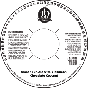 16 Mile Brewery Just Broke the TTB with Flavored Amber SunBeers.