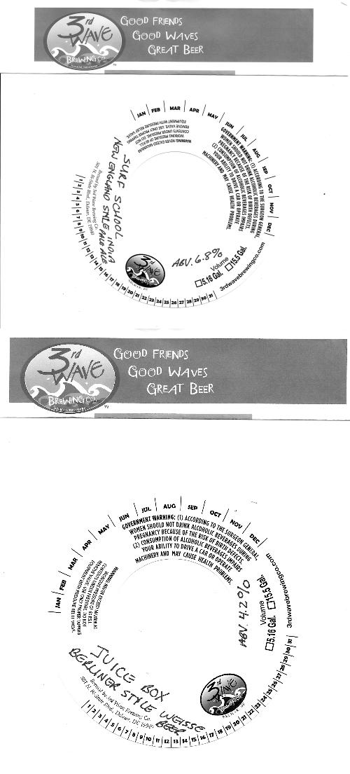 3rd Wave Keg labels